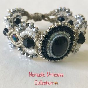 Jewelry - Handmade Beaded Adjustable Macrame Bracelet